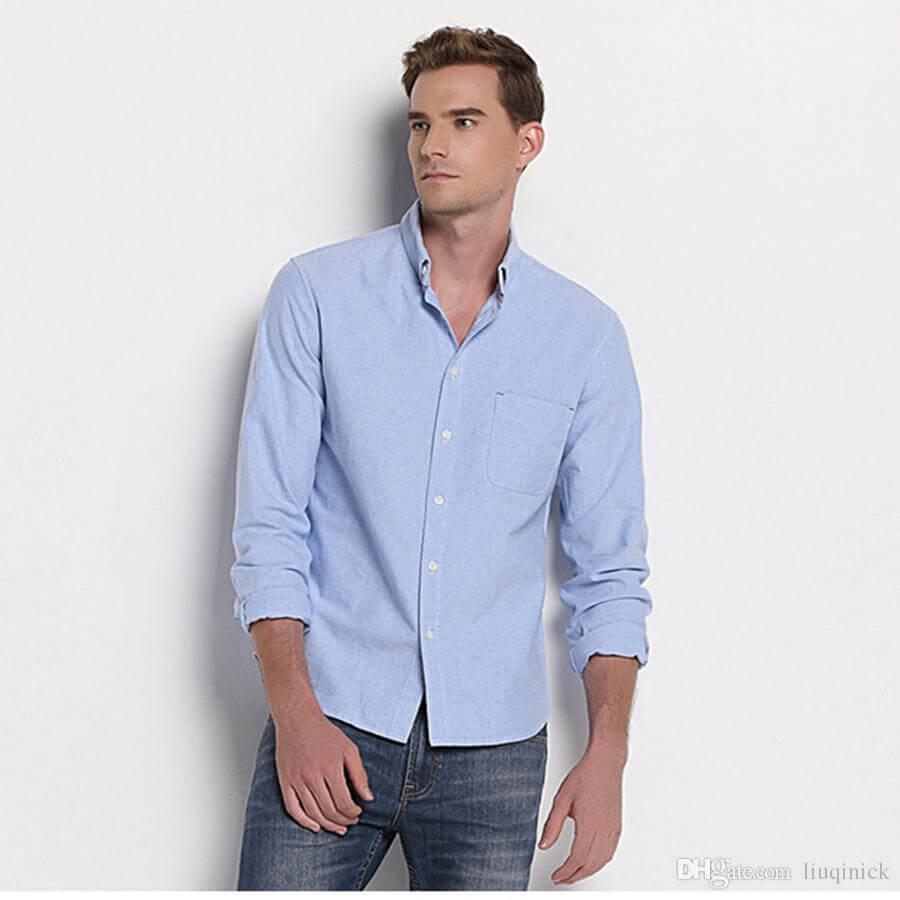 Compra Rojo oxford camisa de los hombres online al por